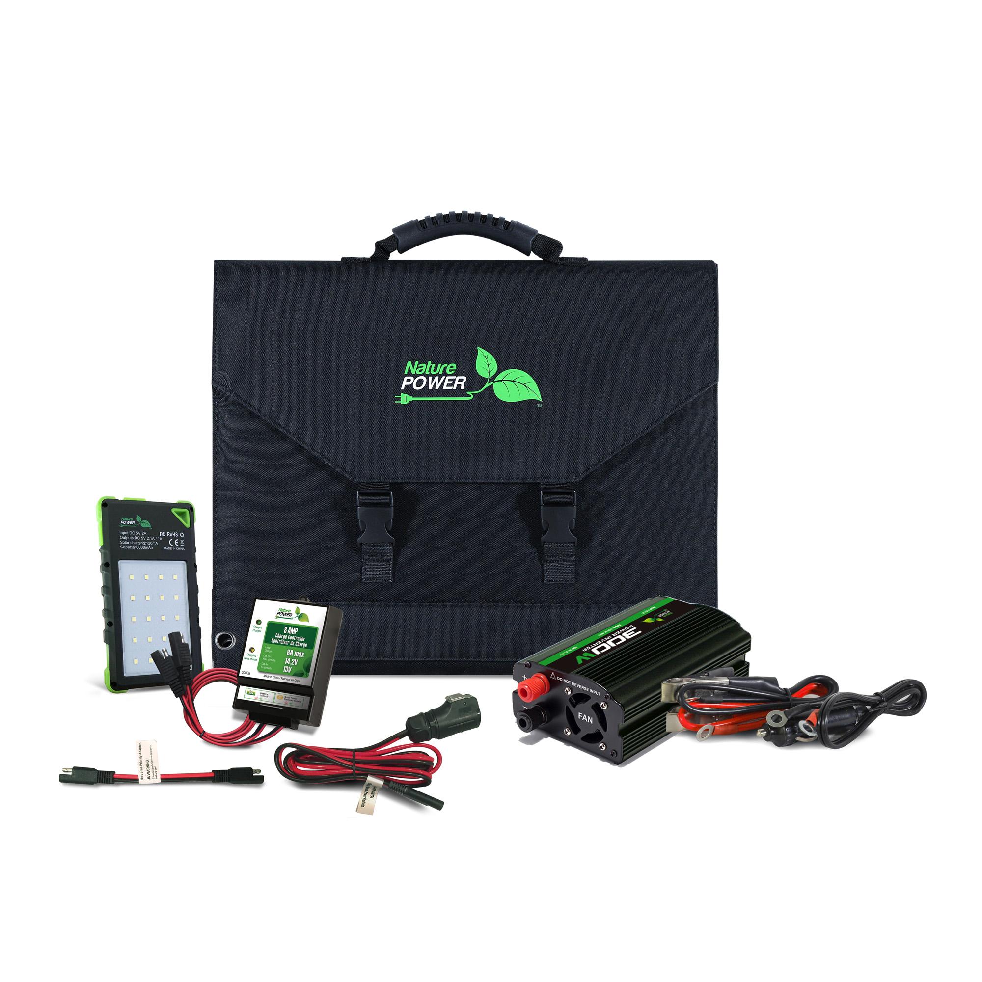 120 Watt Portable Folding Solar Panel Kit